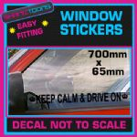 KEEP CALM AND DRIVE ON CAR WINDOW VINYL STICKER DECAL GRAPHICS NOVELTY GIFT